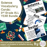 3rd Grade Science Vocabulary Cards: All Year Bundle