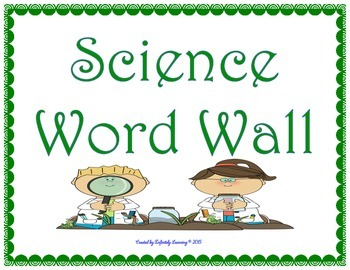 3rd Grade Science Vocabulary Cards-Word Wall