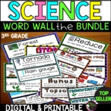 3rd Grade Science Vocabulary Word Wall BUNDLE (For all year!)