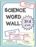3rd Grade Science Word Wall