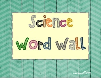 3rd Grade Science Word Wall Set (Ohio Learning Standards)