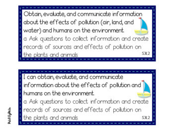 3rd Grade Science and SS GSE Georgia Standards of Excellence Posters -Nautical