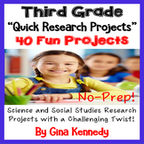 3rd Grade Research Projects, Science and Social Studies Projects With a Twist!