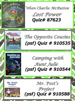 3rd Grade Scott Foresman Reading Street AR and Leveled Readers Quiz Numbers