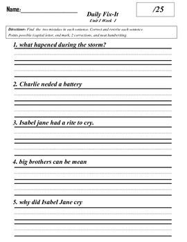 Scott Foresman Reading Street Grade 3 Daily Fix-It Quizzes