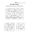 3rd Grade Scrambled Multiplication Tables