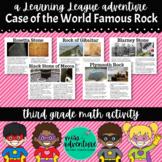 3rd Grade September Math Adventure- Case of the World Famous Rock