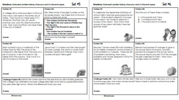 3rd Grade September Problem Solving: Daily Multi-Step(Two-Step) Math Problems
