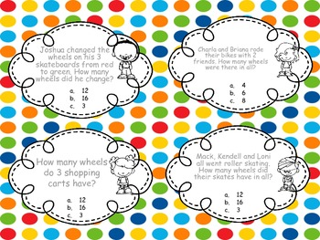 3rd Grade Sets/Patterns - Task Cards
