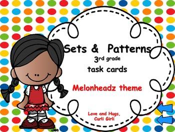 3rd Grade Sets/Patterns - Task Cards