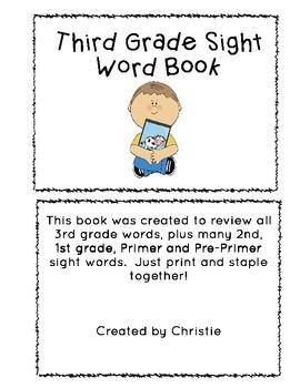 3rd Grade Sight Word Book