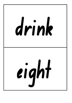 3rd Grade Sight Word Flash Cards