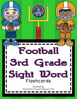 3rd Grade Sight Word Flashcards - Football
