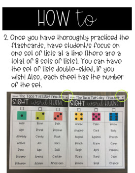 3rd Grade Sight Word Fluency (Flashcards and Games)