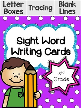 3rd Grade Sight Word Writing Cards