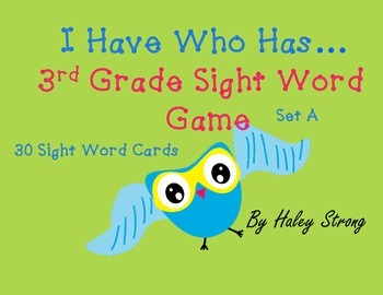 3rd Grade Sight Words - I Have, Who Has Full Game