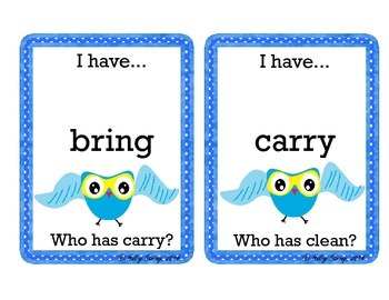 FREEBIE 3rd Grade Sight Words - I Have, Who Has Game