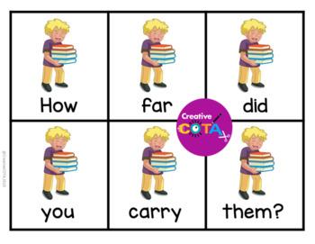 3rd Grade Sight Words Scrambled Sentence Cards and Writing Worksheets