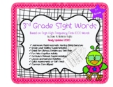 3rd Grade Sight Words for Rapid Naming Fluency and Assessments