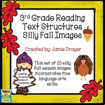 3rd Grade Silly Fall Images: Reading and Language Arts Skills