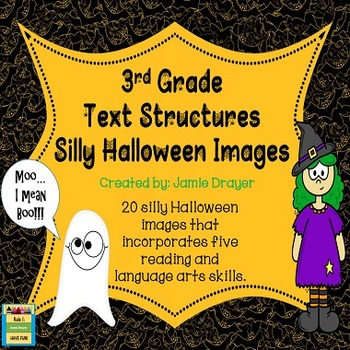 3rd Grade Silly Halloween Images Activity: Reading and Language Arts Skills