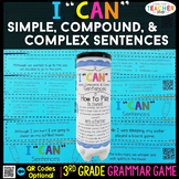 3rd Grade Types of Sentences Game | Simple, Compound, and