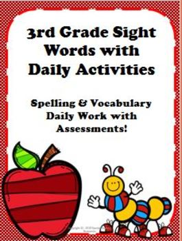 3rd Grade Sight Word Packet with Activities