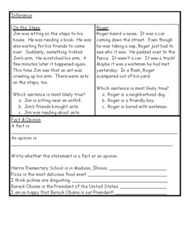 3rd Grade Skills Review/Test, Standards Quiz, End of Year Exam