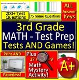 3rd Grade Test Prep Math GOOGLE DOCS, Mystery Games, Printables, Jeopardy Games