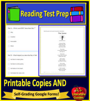 3rd Grade Smarter Balanced Test Prep - SBAC Practice Reading Assessments ELA