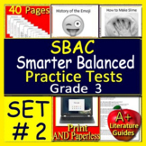 3rd Grade Smarter Balanced Test Prep - SBAC Reading Practice Assessments ELA