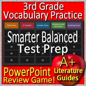 3rd Grade Smarter Balanced Test Prep SBAC Reading Vocabulary Review Game