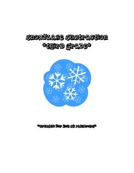 3rd Grade Snowflake Subtraction
