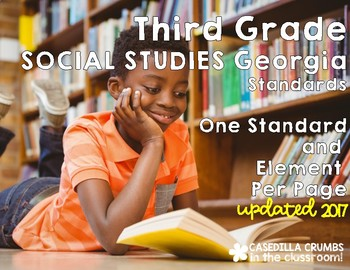 3rd Grade Socal Studies CCGPS Standards one per page
