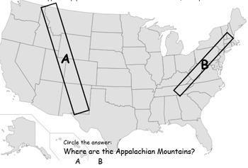 3rd Grade Social Studies Appalachian Rocky Mountains SmartBoard+ Paper artifacts