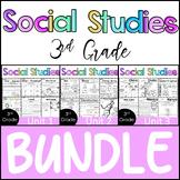 3rd Grade - Social Studies BUNDLE - Whole Year Worksheets