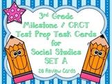 3rd Grade Social Studies Milestone / CRCT Test Prep Task Cards-Set A