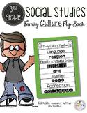 3rd Grade Social Studies Family Culture Flip Book