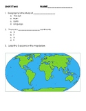 3rd Grade Social Studies- Geography Test