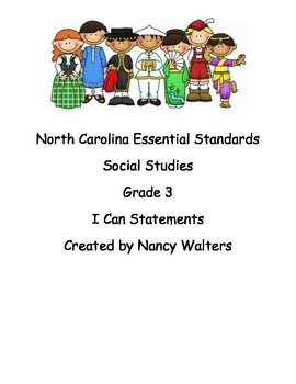 """3rd Grade Social Studies """"I Can"""" Statement Posters"""