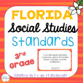 Florida Social Studies Standards: I Can Statements for 3rd Grade