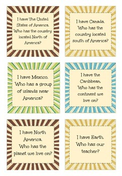 3rd Grade Social Studies: I Have Who Has