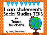 "3rd Grade Social Studies ""I can"" statements- Tile pattern (using TEKS)"