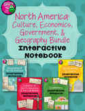 North America Social Studies Interactive Notebook Year-long BUNDLE