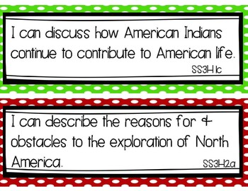 3rd Grade Social Studies Learning Targets (for Georgia Standards of Excellence)