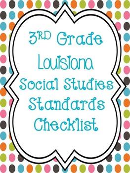 3rd Grade Social Studies Louisiana Standards Checklist