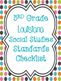 3rd Grade Social Studies Louisiana Standards Checklist