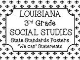 3rd Grade Social Studies Louisiana Standards Posters