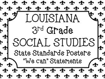 3rd Grade Social Studies Louisiana Standards Posters