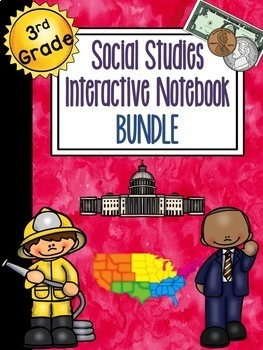 3rd Grade Social Studies Interactive Notebook BUNDLE